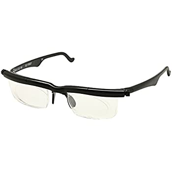 251b8b3a0 Adlens Focus Adjustable Eyeglasses -4D to +5D Diopters Myopia Magnifying  Reading Glasses Variable Strength (Black)
