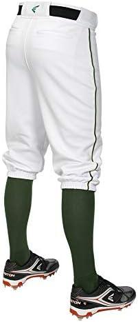 Moisture Wicking Zipper 7 Belt Loop System EASTON PRO+ Knicker Baseball Pant 2020 Elastic Cuff Below Knee Scotchgard Stain Release 100/% Polyester Jacquard Fabric Metal Snap Closure