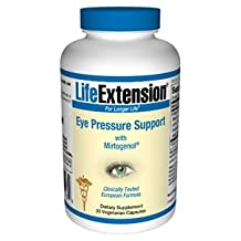Eye Pressure Support with Mirtogenol, 30 vcaps by Life Extension (Pack of 4)