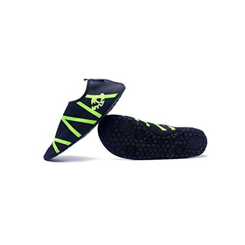 Secret Paradise par sandalias zapatos deportes natación agua esquí Barefoot pasta piel suave buceo zapatos zapatos de vadeo Verde