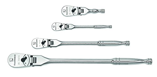 GearWrench 81230P 120XP Full Polish Flex Teardrop Ratchet Set, 4-Piece by Apex Tool Group