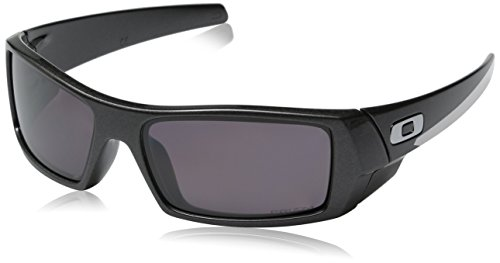 Oakley Men's Gascan Polarized Rectangular Sunglasses, Granite /Prizm Daily, - Wrap Oakley Sunglasses