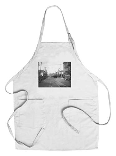 Ballard Avenue in Seattle, WA Photograph (Cotton/Polyester Chef's Apron)