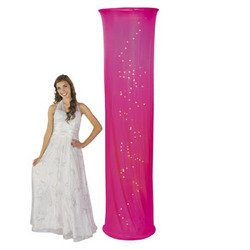 Light-Up Hot Pink Fabric Column - Solid Color Party Supplies & Solid Color Party Decorations by Fun Express