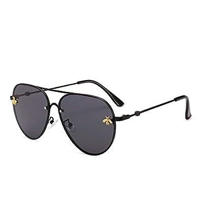 FeliciaJuan Sports Metal Frame Driving Color Mirror Lens for Women&Men 100% UV Protection Square Sunglasses