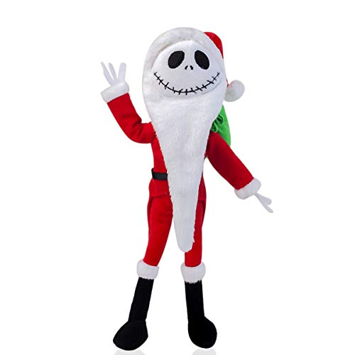 (Cuddly-store The Nightmare Before Christmas Santa Jack Skellington Poseable Soft Stuffed Doll Plush Toy)