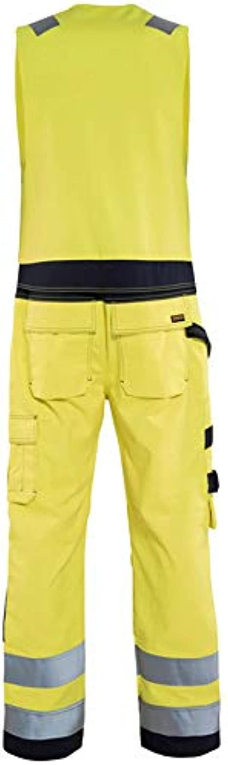 Blaklader Workwear Multinorm Sleeveless Overall Yellow//Navy Blue C56 40R UK