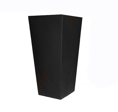 Tusco Products CTU26BK Cosmo Tall Planter, Black, 26-Inch