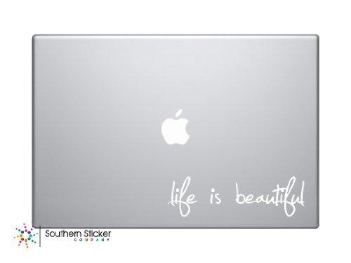 Life Is Beautiful Laptop Apple Silhouette Doctor Macbook Symbol Keypad Iphone Apple Ipad Decal Skin Sticker Laptop (white)
