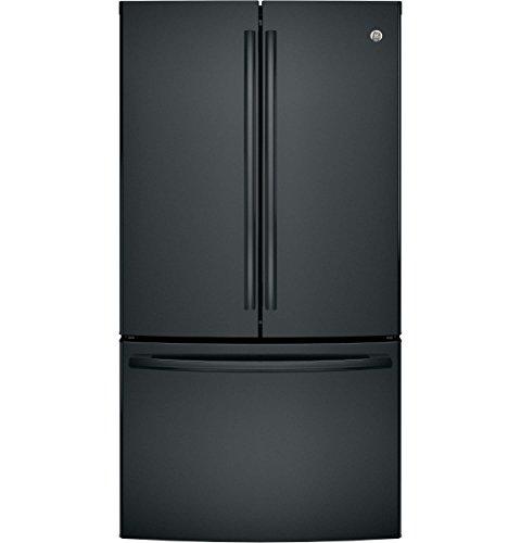 GE GNE29GGKBB 28.5 Cu. Ft. Black French Door Refrigerator - Energy Star Energy Star French Door Refrigerator
