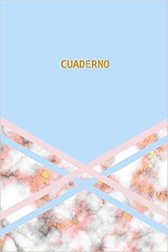 Cuaderno: Elegante y Practico | Mármol Azul Rosa y Oro ...