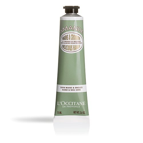 L'Occitane Almond Delicious Hands Moisturizing Hand Cream Enriched with Almond Oil, Net Wt. 2.6 ()