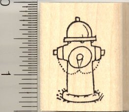 Rubber Hydrant - Fire Hydrant Rubber Stamp