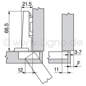 incluye placa de montaje Bisagra de amortiguaci/ón para esquina BLUM Austria 71B3550