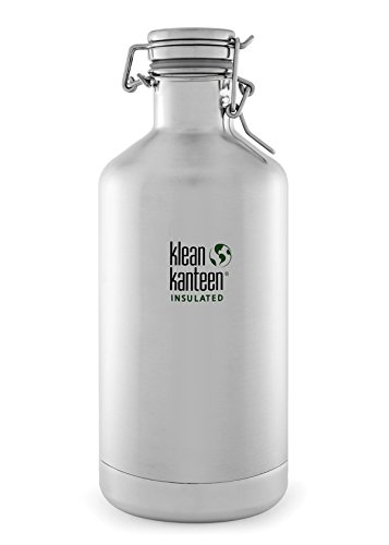 Klean Kanteen Double Wall Vacuum Insulated Stainless Steel Growler with Leak Proof Stainless Steel Swing Lok Cap -...