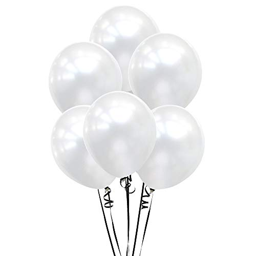 - 12 Inch Pearl White Balloons for Wedding Birthday Party Baby Shower Decor 100 Count