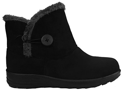 Boots Cushion Fit Slip Carly Winter Walk Womens Comfort on in Black 70wrna0qXx