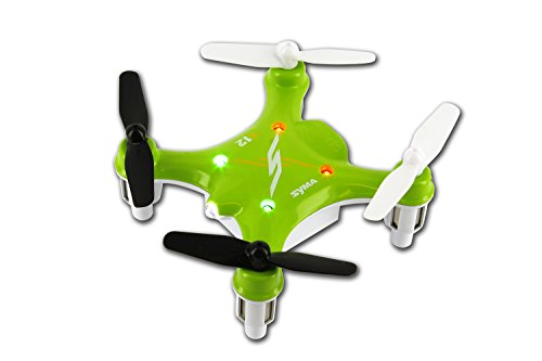 Syma X12 Nano 6-Axis Gyro RC Quadcopter Mini Drone RTF UFO Aircraft, Color Green