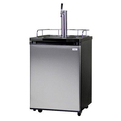 Kegco Kegerator Full Size Keg Refrigerator - Single Faucet - D System, Stainless Steel (Best Full Size Refrigerator)
