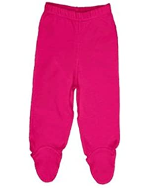 iPlay Organic Cotton Footie Pants Hot Pink Sizes 3-9 Months