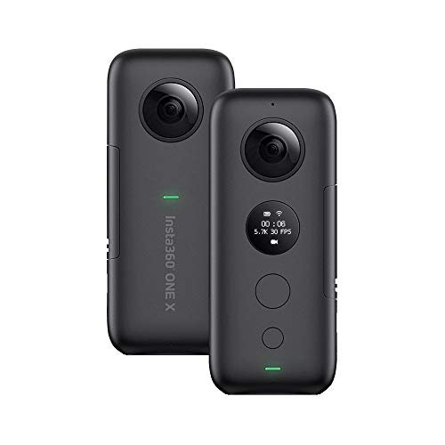 Insta360 ONE X FlowState Stabilization Panoramic Action Camera for iPhone X XS XS Max 8 7s Plus 6 for iPad Pro for iPad 2018 for Huawei for Samsung Xiaomi More Smartphones with Andoer Cleaning Cloth