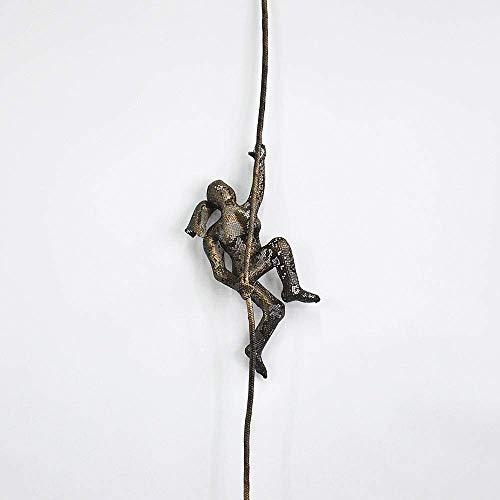 Miniature Climbing Woman Wall Sculpture Metal Art, Home Interior Design
