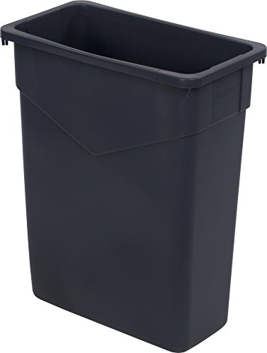 Carlisle 34201523 TrimLine Rectangle Waste Container Trash Can Only, 15 Gallon, Gray