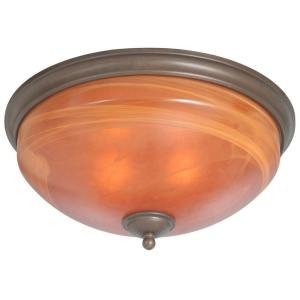 (Aspen 2 Light Flush Mount Heritage Bronze)