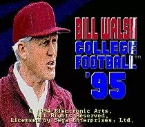 Value-Smart-Toys - Bill Walsh College Football - 16 bit MD Games Cartridge For MegaDrive Genesis console