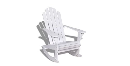 (Chair Rocking Wood White Porch Outdoor Patio Rocker Seat Garden Furniture K&A Company)