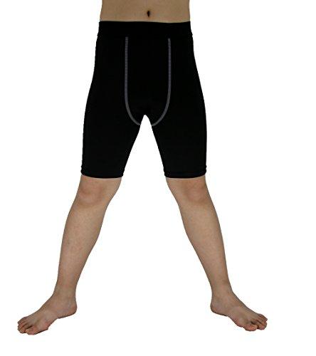 - LANBAOSI Boy's Football Compression Short Pants Kid's Sports Tights Legging
