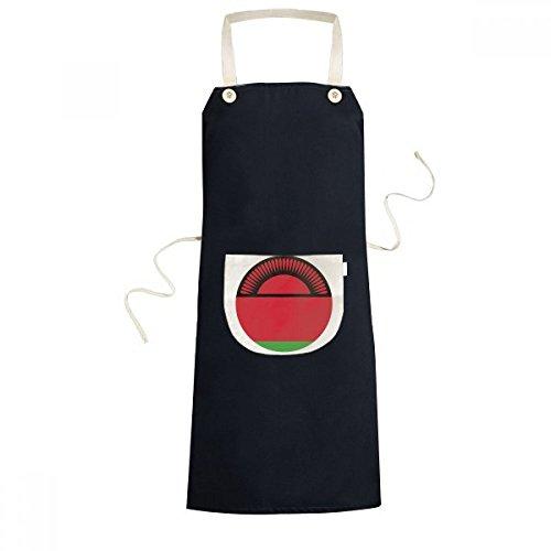 DIYthinker Malawi Africa National Emblem Cooking Kitchen Black Bib Aprons With Pocket for Women Men Chef Gifts by DIYthinker