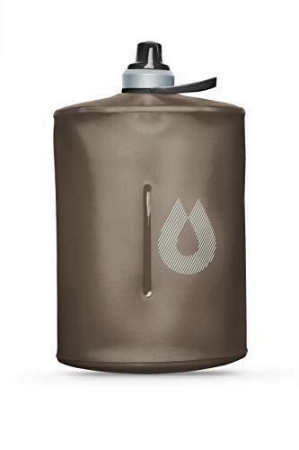 Hydro Pak - Hydrapak Stow - Collapsible Water Bottle (1L/32oz) - BPA & PVC Free Ultralight Travel Bottle - Mammoth Grey