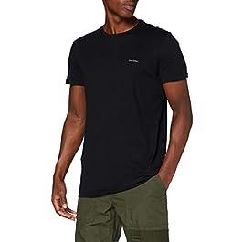 Diesel Men's 3 Pack Jake Plain Logo T-Shirts, Black, XX-Large