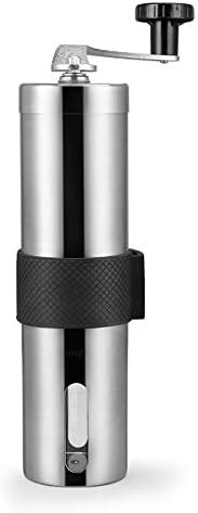HGFDSA Manuelle Kaffeemühle Edelstahl-handkurbelmühle Mit Verstellbarem Konischem Keramikgrat Für Das Home Office Oder Unterwegs