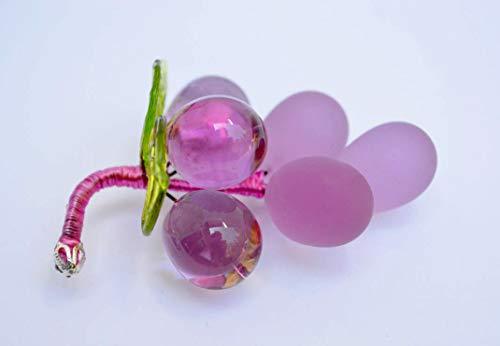 Murano Glass Grape Cluster, Dusty Rose
