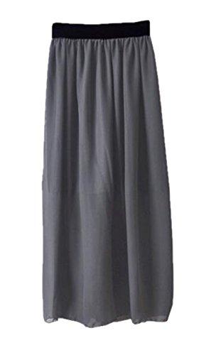 Jupe Jupe Skirt Taille Grey Aoliait Mousseline Glamour Extensible Taille Grande Femme Femelle Jupe Jupe Longue ElGant wa7Uq