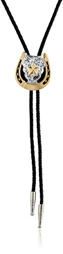 M & F Western Men's Horseshoe Star Bolo Tie Gold One Size from M & F Western