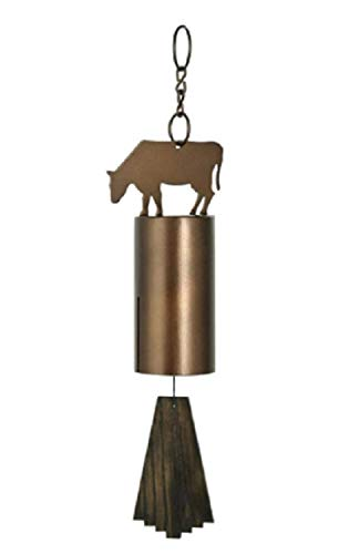 Forged Iron Bell - MyEasyShopping Barn Bells Cow Bell Antiqued Steel Outdoor Garden Wind Chime New Metal Farm Garden Vintage Bells Door Rustic Windchime Hanging Patio Cowbell Decor Home Hand Forged Iron
