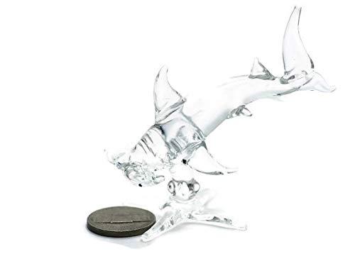 3 D Crystal Toy Hammerhead Shark Hand Bowl Glass Dollhouse Miniatures Decoration