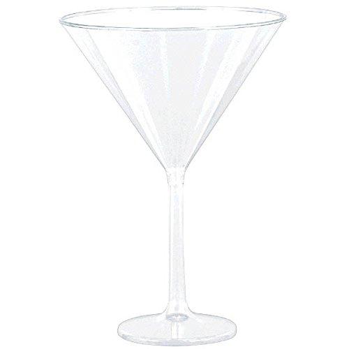 goodieGumDrops 353001.86 Plastic Martini Glasses, 25oz, -