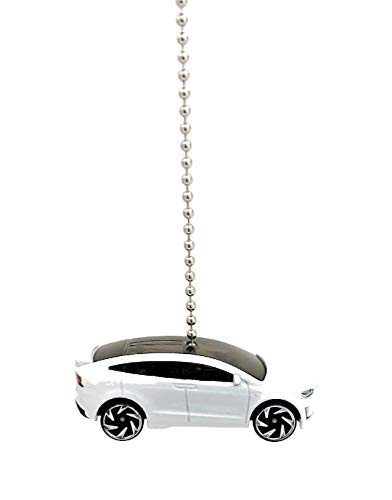 Price comparison product image Hot Wheels Tesla Diecast Ceiling Fan Light Pull Ornaments 1 / 64 Scale (Tesla Model X - WHITE)