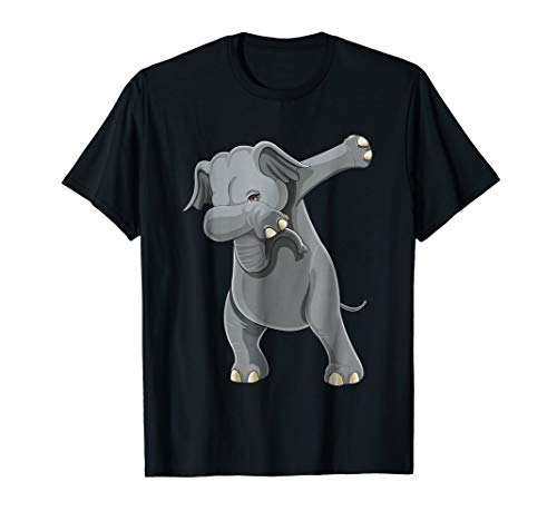 - Dabbing Elephant T Shirt Dab Gift Dance Women Men Kids