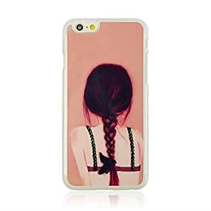 ZL Backless Girl Pattern Hard Case with Rhinestone for iPhone 6