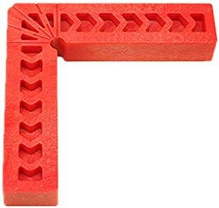 90度直角補助ロケータプラスチック直角ブロック力測定木工-赤