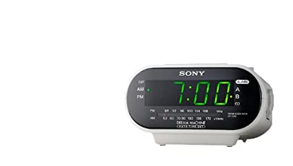 Sony ICF-C318 Automatic Time Set Clock Radio with Dual Alarm (White) (Discontinued by Manufacturer)