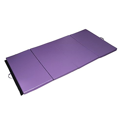 Gymnastics Mat 4' x 8' x 2''Martial Arts Aerobics Exercise Yoga Tumbling Pad Purple With Ebook by MRT SUPPLY