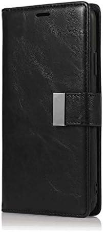 iPhone X PUレザー ケース, 手帳型 ケース 本革 スマートフォンカバー 防指紋 ビジネス カバー収納 財布 手帳型ケース iPhone アイフォン X レザーケース
