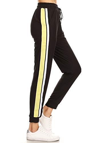 Stripe Floral Mauve - LA12ST Women's Mauve Solid Side Stripe Jogger Pant