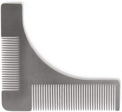 Qukick ステンレススチールベアードスタイリングと完璧なライン&対称性のためのテンプレートくしツール (色 : 304 material)